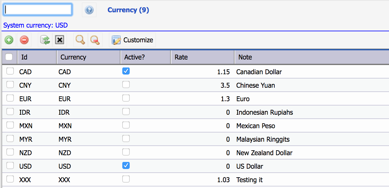 Multi-Currency in Calem Enterprise