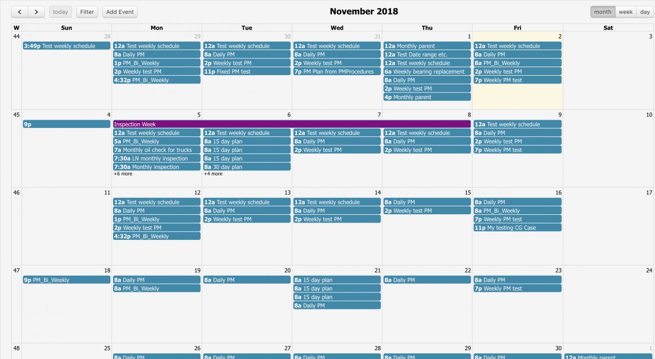 How to Use the Calendar View for Work Orders