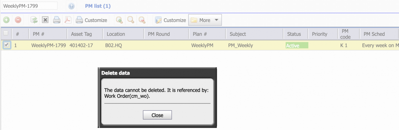 How to Delete PMs Permanently in Calem