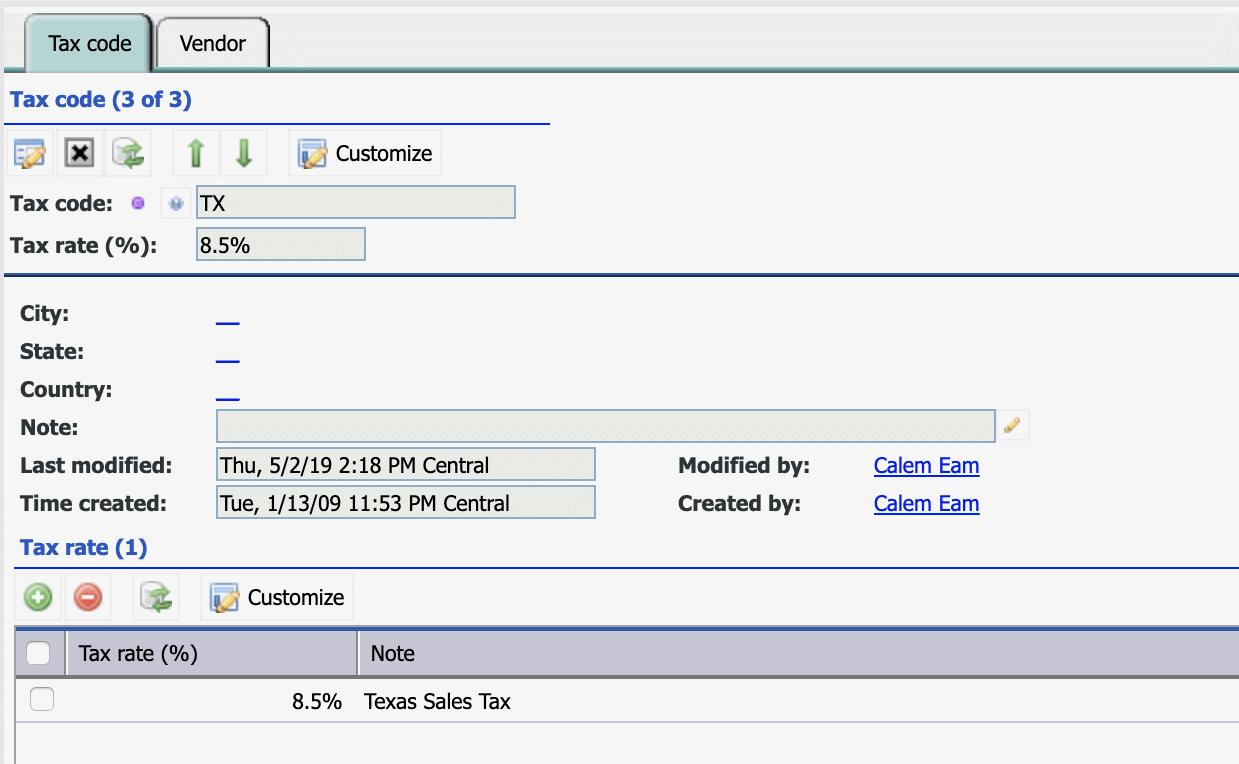 How to Set Up  Vendor Tax Codes