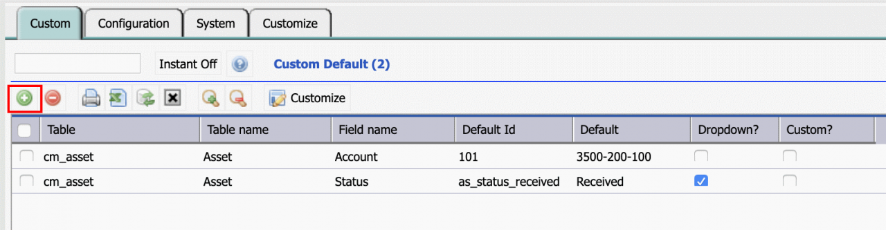 How to Configure Default Object Values in Calem