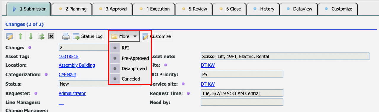 How to Add a New Status Dropdown in Changes