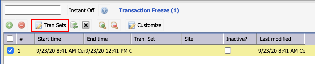 How to Freeze Inventory Transactions