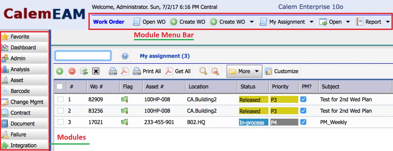 Module Bar Minimization
