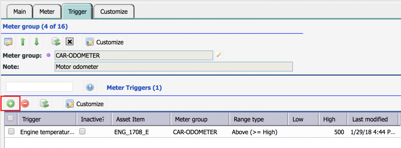 Asset Condition Monitoring with Meter Triggers