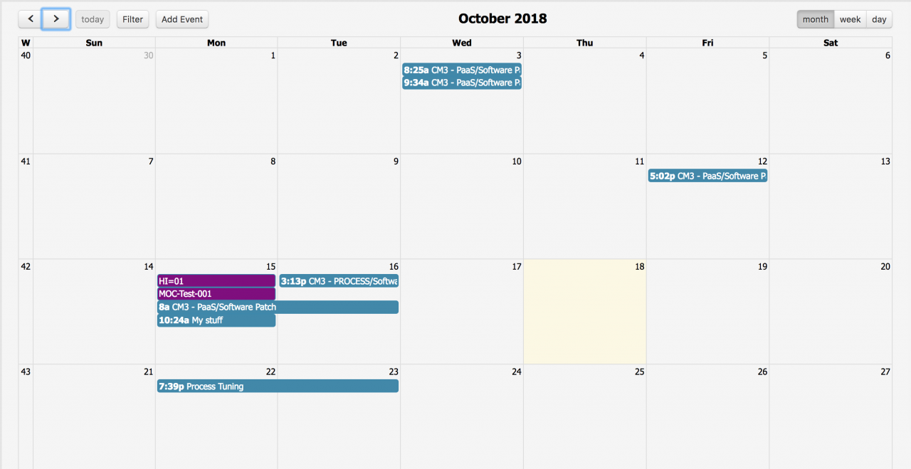 How to Use the Calendar View for Change Management