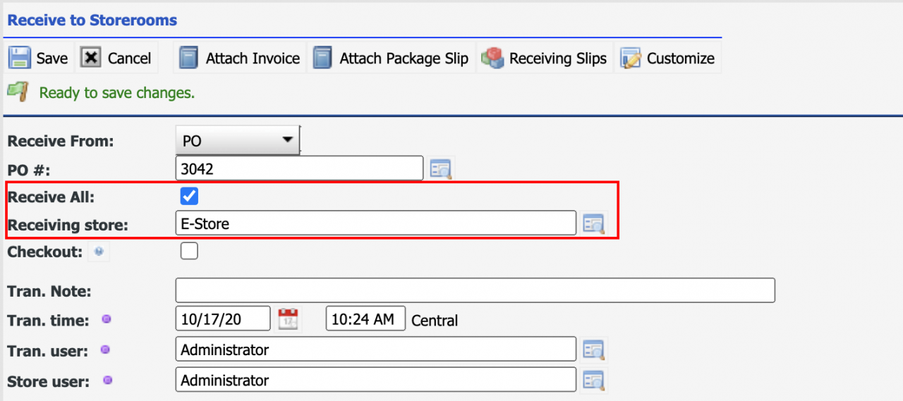 How to Select Bins when Receiving All for a PO