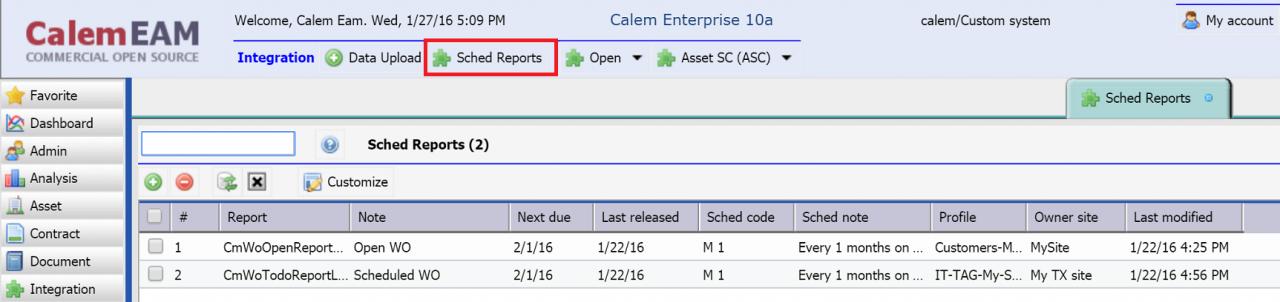 Scheduled Reports (Deprecated)